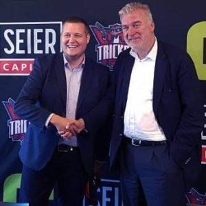 Her ses direktør for Tricked eSport, Morten Jensen, sammen med investor Lars Seier Christensen, som kastet sine sparepenge i de danske eSportsklub. Foto: Facebook.