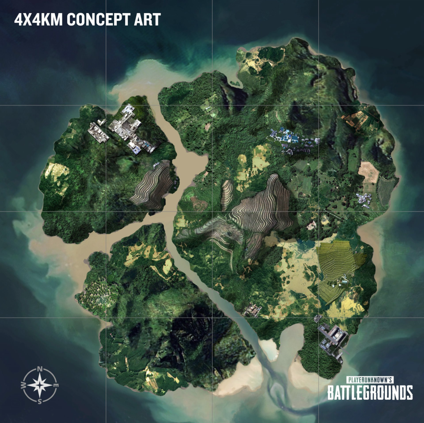 Player Unknown Battlegrounds map: Island Map